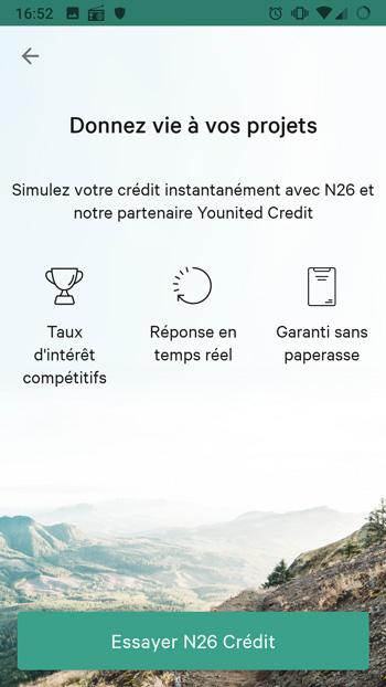 n26 credit à la consommation