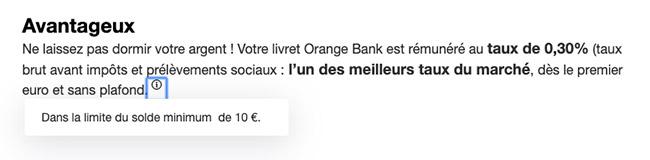 orange bank épargne