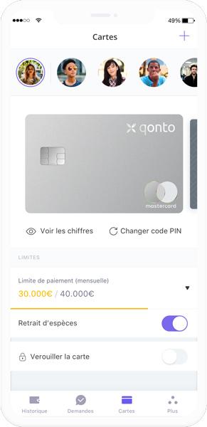 qonto application mobile