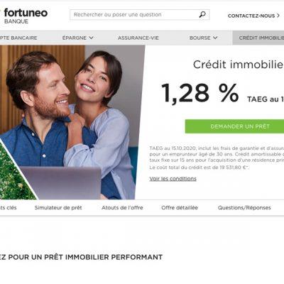 fortuneo crédit immobilier