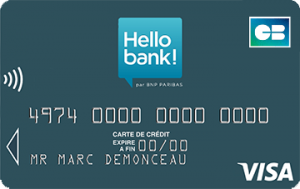 hello bank carte visa classic