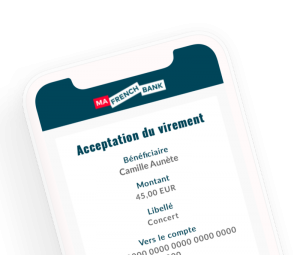 mafrenchbank acceptation virement